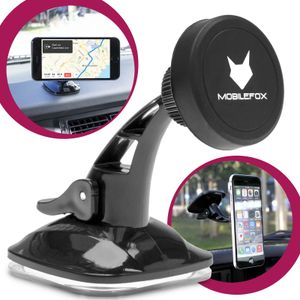 Mobilefox Universal 360° Magnet Saugnapf Handy KFZ -Halterung Halter Smartphone