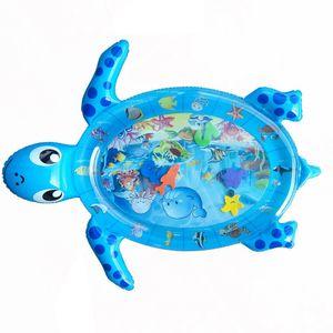 Wassermatte Baby, Wasserspielmatte BPA-frei, Baby Spielzeug 3 6 9 Monate, Aufblasbare Bauchzeit Matte, Spaßaktivitäten Das Stimulationswachstum Ihres Babys (96 * 80cm)