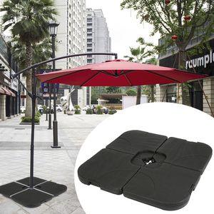 Schirmständer Gewicht befüllbar Sonnenschirm Schirmgewicht Schirmständer Beschwerungsplatten Sonnenschirmständer Ampelschirm(Quadrat)