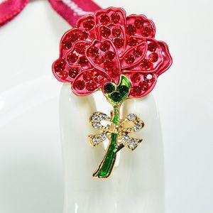 Elegante Kristall Blumen Sicherheitsnadel Brosche Pin Clip für Damen Schal Golden