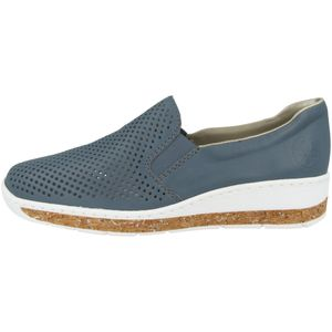Rieker Damen Slipper in Blau, Größe 37