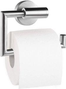 Toilettenpapierhalter Toilettenpapierrollenhalter Klopapierhalter Klorollenhalter Klopapierrollenhalter Kleben Ohne Bohren, Edelstahl, Gebürstet