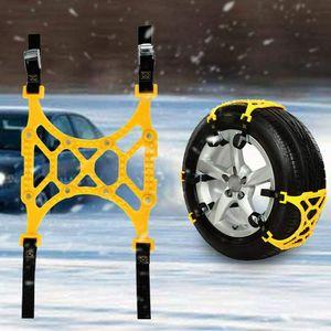 6 Stück Schneeketten Anti Rutsch Auto Anfahrhilfe Schnee EIS Reifen Ketten Reifenkette (165 mm - 265 mm)