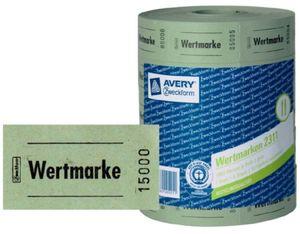 5x Rolle Wert-Marke 57x30mm Grün 5000 Abrisse