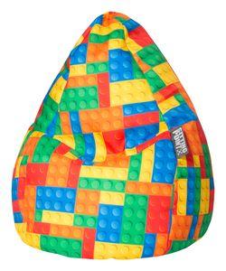 Magma Heimtex Sitting Point Sitzsack BeanBag BRICKS L, 70x90 cm 120 l bunt; 30730 098