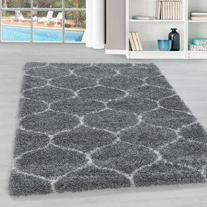 Teppium Hochflor Teppich, Wohnzimmerteppich, Kachel Muster, Rechteckig GRAU, Farbe:GRAU,160 cm x 230 cm