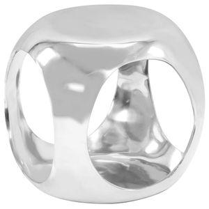 vidaXL Beistelltisch Aluminiumguss 35 x 35 x 35 cm Silbern