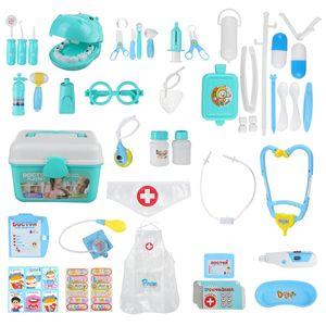 44tlg. Doktor Arztkoffer Spielset Medizinische Rollenspiel Spielzeug für Kinder, Blau
