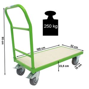Profi Plattformwagen 250 kg Transportwagen Handwagen Magazinwagen Wagen