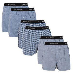 Maat Mons Herren Boxershorts im 6er Pack | bequeme Herrenunterwäsche in verschiedenen Farben | Männer Unterhosen aus Baumwolle | gestreifte Unterwäsche , Color:852 blau mehrfarbig, Wäschegröße:L