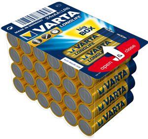 "VARTA Alkaline Batterie ""Longlife"" BIG BOX Mignon (AA)"