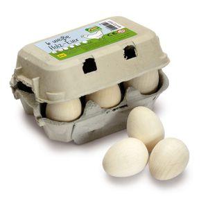 Erzi Eier, weiß im Karton