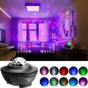 LED Projektionslampe Sternenhimmel Lampe mit Wasserwellen Welleneffekt Lautsprecher