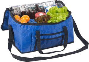 Faltbare Kühltasche mit Schultergurt & Tragegriffen 24 L blau Isoliertasche Auto BBQ Einkaufskorb