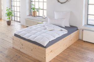 Schiesser Daunen Ganzjahres Bett-Decke, Allergiker geeignet,  Standard 100, Farbe:weiß, Größe:135 cm x 200 cm