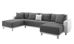 Inter Sofa Road weiß grau U-Form Schlafsofa Ecksofa