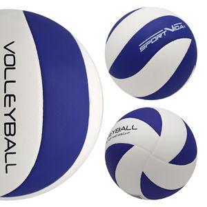 Volleyball Ball - Beachvolleyball für Kinder und Erwachsene - Hallenvolleyball - Farbenauswahl Weiß - Blau
