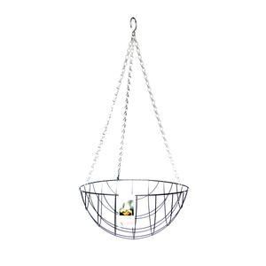 Esschert Design Hanging Basket Metallkorb Ø 30 cm mit Kette