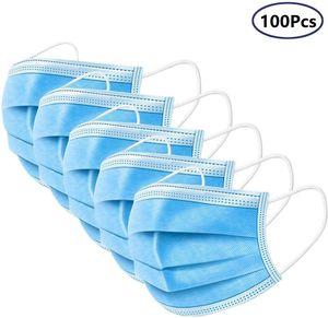 100x Mundschutz Maske 3-lagig Gesicht Hygienemaske Einweg