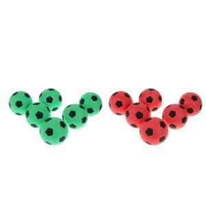 Mini EVA Fußball Schaumstoffball Softball Football Fußbälle für Kinder und Haustiere, 12er Pack, Rot + Grün