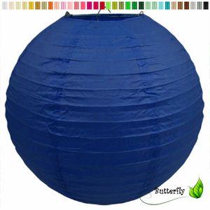 1 Lampion 25cm , Farbauswahl:blau 352 / königsblau / royalblau