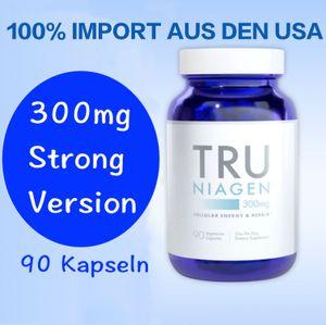TRU NIAGEN Nicotinamid Ribosid NAD + Ergänzung zur Verringerung von Müdigkeit und Erschöpfung, patentierte Formel, 300 mg pro Portion 90 Tage (6 Monate / 2 Flasche)