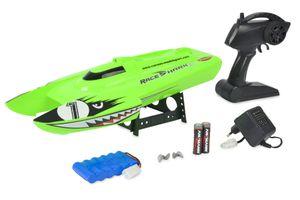 Carson Race Shark FD 2.4G 100% RTR, Geschwindigkeit bis zu 25 km/h, ferngesteuertes Boot, 500108025