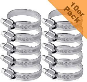 Schlauchschellen 32 bis 50 mm Bandbreite 12 mm I universell - Waschmaschine - Pool - Garten - uvm. I Profi Standard I 10 Stück