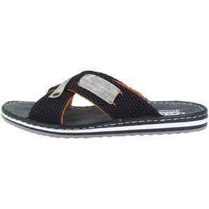 Rieker 21539 Schuhe Herren Pantoletten Weite G Clogs, Größe:43 EU, Farbe:Blau