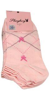 Playboy 12 Paar Sneaker Socken Damen Herren 39-42 Rosa Pink Bunt bei Bowatex