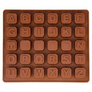 Pndwfr Silikonform mit Buchstaben Alphabet, Pralinenform, Schokoladenform, Gießform, Eiswürfelform, Beton, Fondant, Backform, Kuchendekorationen