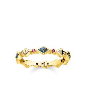 Thomas Sabo TR2229-295-7 Ring Damen Farbige Steine Perlmutt Gold Gr. 60