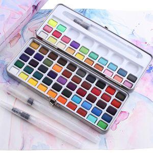 Aquarellfarben Set, Aquarell Malkasten Inklusive 90 Farben, wasserlöslich und gut mischbar Aquarell-Farben-Set für Kinder und Erwachsene