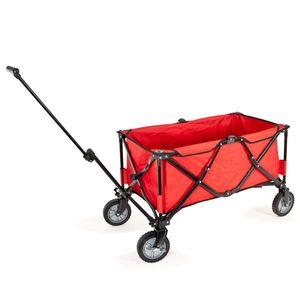 bremermann Bollerwagen, Handwagen, Einkaufswagen, faltbar, rot