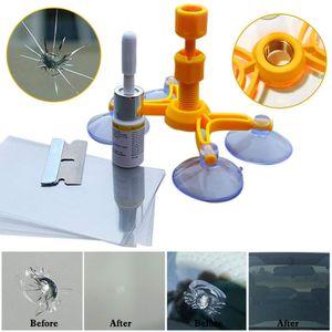 Favson Auto Windschutzscheibe Repair Kit für Fix Auto Glass Windschutzscheibe Crack Chip Scratch