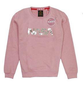 Alpha Industries Damen Sweater NASA PM Wmn silver pink /chrome XL