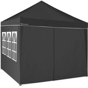 KESSER® 2X Seitenwand für Pavillon 3x3m - Faltpavillon Pop Up | klappbar | platzsparend | verstaubar, Farbe:Zubehör 2x Seitenteile Anthrazit