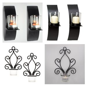 4pcs Teelichthalter Wandkerzenhalter Wand Kerzenhalter Dekoration