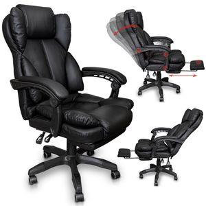 Chefsessel Bürostuhl Gamingstuhl Schreibtischstuhl Racing Chair mit Fußstütze
