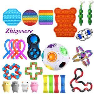 25 Stück / Set POP IT! Sensory Fidget Toys Set für Stressabbau Timer Autistic Stressabbau Spielzeug