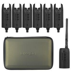 Lixada Wireless Digital Fishing Alarm Set Fishing Bite Sound Alert Kit Wechselbare LED Alarmanzeige mit tragbarem Gehaeuse,,