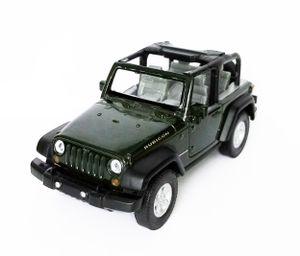 Jeep Wrangler Rubicon aus Metall Modellauto Modell Auto Spielzeugauto Kinder Geschenk 56 (Grün offen)
