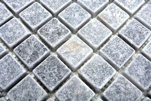 Handmuster Mosaik Fliese Marmor Naturstein hellgrau Bardiglio Antique Marble MOS40-40023_m
