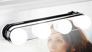 4 LED Make Up Licht Schminkspiegel Licht Spiegelleuchte Spiegellampe Kosmetik