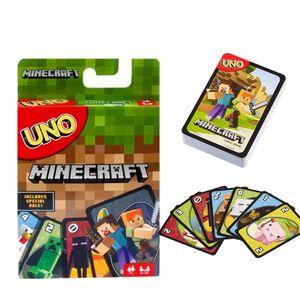 UNO Minecraft Kartenspiel, für Kinder und Familie geeignete Kartenspiele