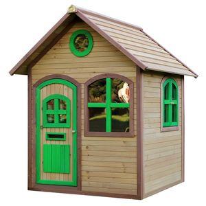 AXI Spielhaus Julia ausHolz   Outdoor Kinderspielhaus für den Garten in Braun & Grün   Gartenhaus für Kinder mit Fenstern