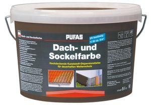 PUFAS Dach- und Sockelfarbe - anthrazit 963 - 5 Liter