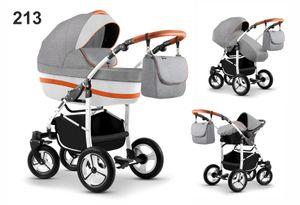 Kinderwagen City Lux, 3in1- Set Wanne Buggy Babyschale Autositz mit Zubehör Color 213