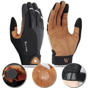 Winddicht Winter Warm Radfahren Handschuhe Touchscreen Bike MTB BMX Fahrrad XL Schwarz Voller Finger