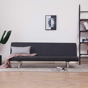 CHIC® Schlafsofa im skandinavischen Stil, Eckcouch|Polstersofa Bettsofa Lounge Sofa für Wohnzimmer Dunkelgrau Polyester Größe:168 x 76 x 66 cm※4283
